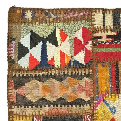 W45L45PPC2 Anatolian Kilim Patchwork Pillowcase