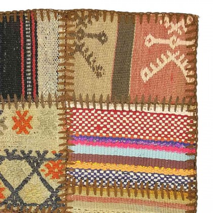 W45L45PPC3 Anatolian Kilim Patchwork Pillowcase