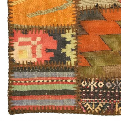 W45L45PPC9 Anatolian Kilim Patchwork Pillowcase