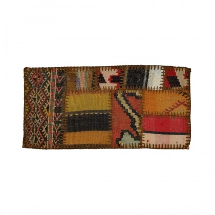 W30L60PPC46 Anatolian Kilim Patchwork Pillowcase