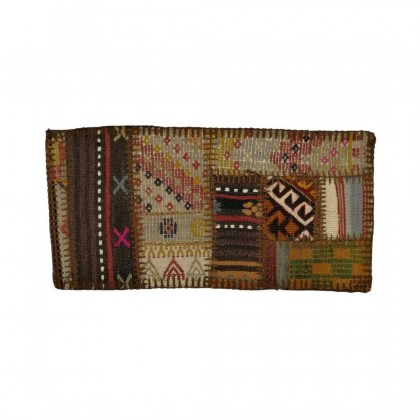 W30L60PPC53 Anatolian Kilim Patchwork Pillowcase